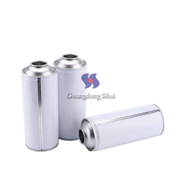white coating empty aerosol can