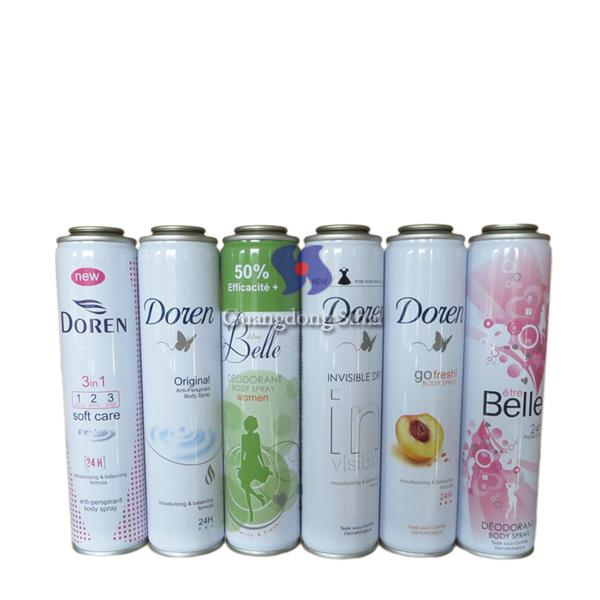 body spray aerosol tin can