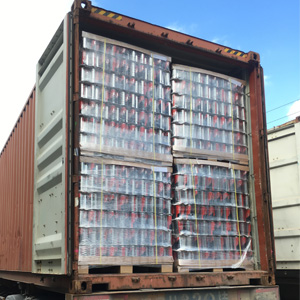 Guangdong Sihai aerosol can packed in pallet
