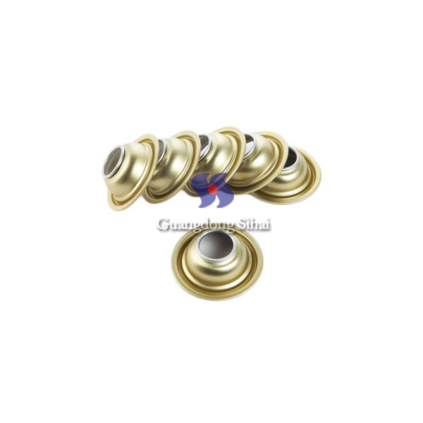 gold lacquered aerosol top